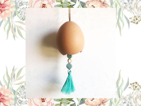 Eggshell Witch's Bell for Ostara