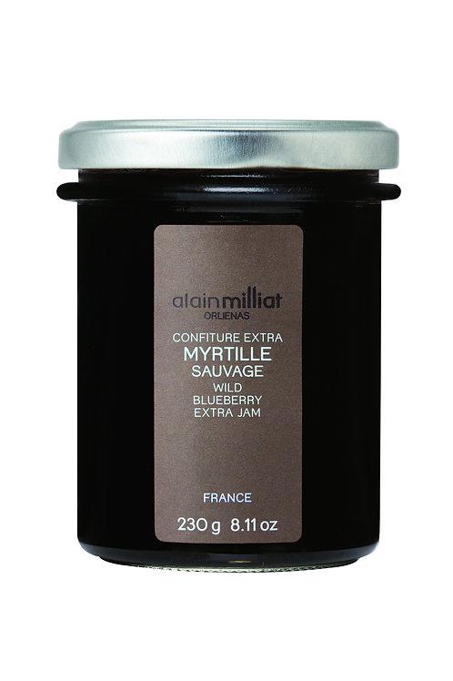 Confiture Extra Myrtille Sauvage 230g Alain Milliat (Sur commande)