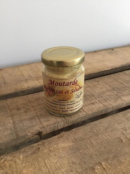 Moutarde aux Noisettes et sésame 100g La Petite Merlette