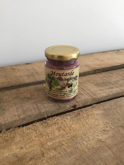Moutarde au Vin et fruits rouges 100g La Petite Merlette