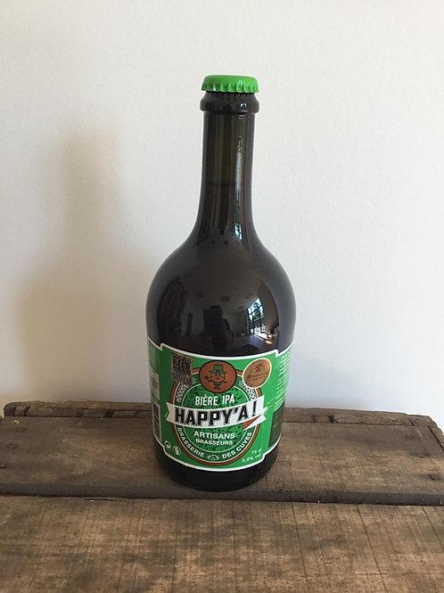HAPPY'A – Bière IPA 75cl Brasserie des Cuves