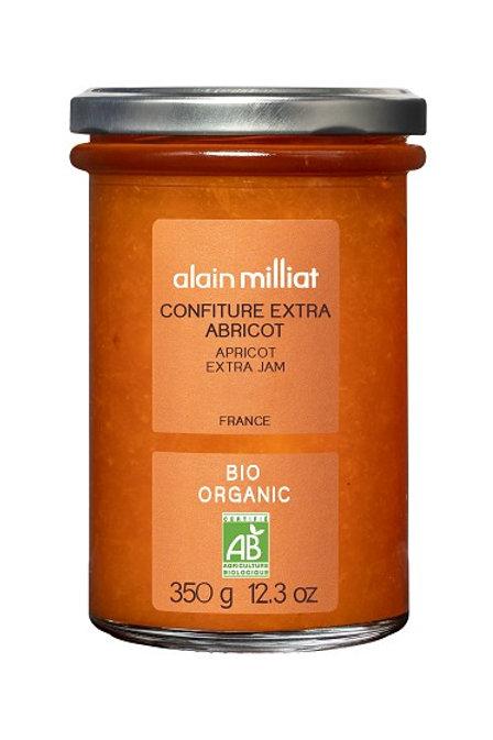 Confiture Extra Abricot Bio 350g Alain Milliat (Sur commande)