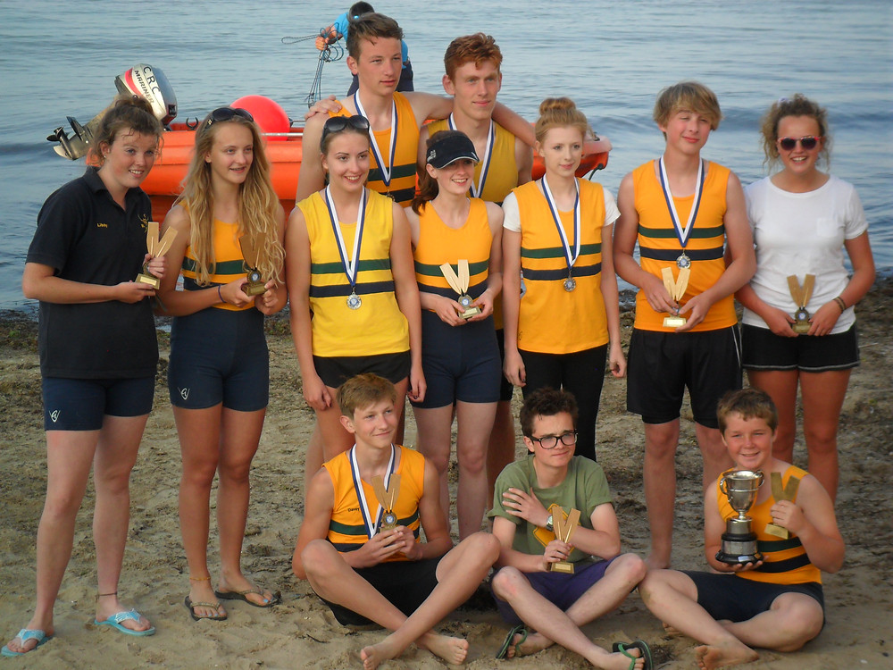 Christchurch Rowing Club winners at Swanage Regatta