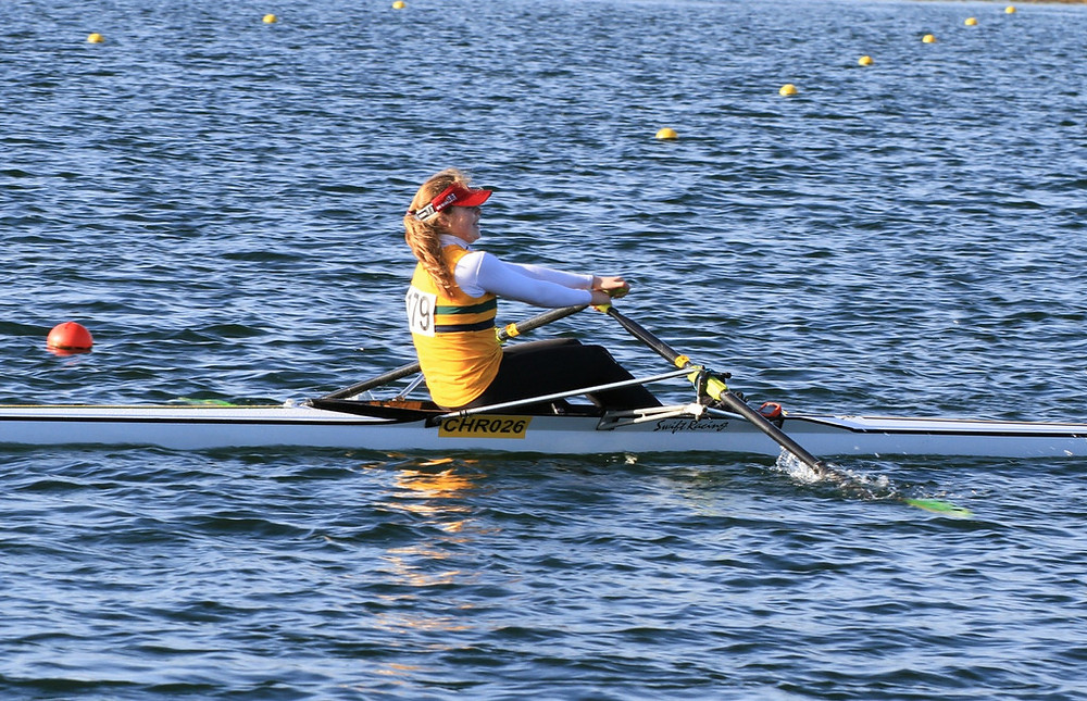 Christchurch Rowing Clubs Lizzie Lander at Junior Championships 2014
