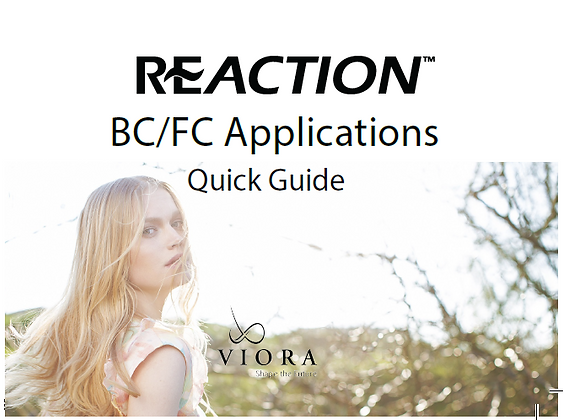 REACTION BC/FC QUICK GUIDE