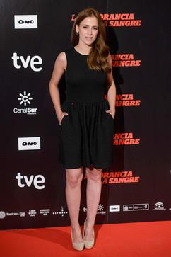 Spanish actress Sara Ballesteros attends 'La Ignorancia de la Sangre' Madrid Premiere at the Capitol Cinema (Photo by Juan Aguado/Getty Images).