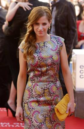 Sara Ballesteros attends the Red Carpet. Málaga Film Festival.