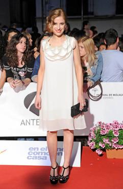Sara Ballesteros at Málaga Film Festival (Spain).