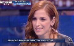 Sara Ballesteros at Pomeriggio Cinque (Italy TV).