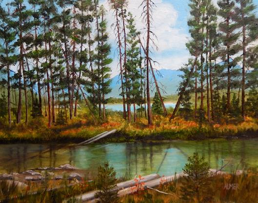 Redfish Lake 16x20 Oil