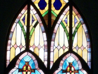 Everyone needs a little stained glass on Sunday!
