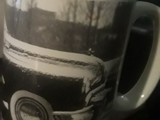 Matching Mugs that Reflect the Couple's Style...  Winter Wedding Fun!