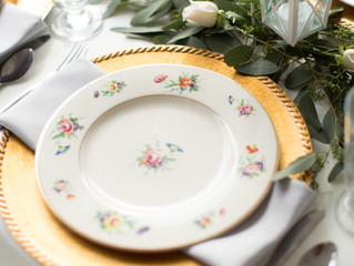 Vintage china & smiling faces all around...