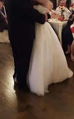A truly happy pair during their first dance!