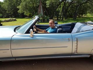 Test driving her getaway car!