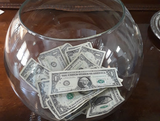 The donations are already fluttering into the fishbowl for Sunday's event!