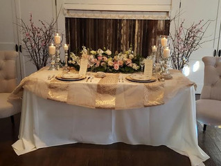 A picture-perfect winter wedding table...