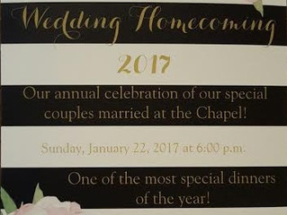 It's official!  Wedding Homecoming invitations are here!