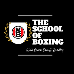 The school of boxing initial logo black
