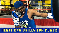 Copy of HEAVY BAG DRILLS FOR POWER black
