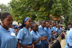 uBambiswano students singing Give Me Joy