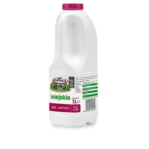 Mleko Piątnica Bez Laktozy 2% 1l