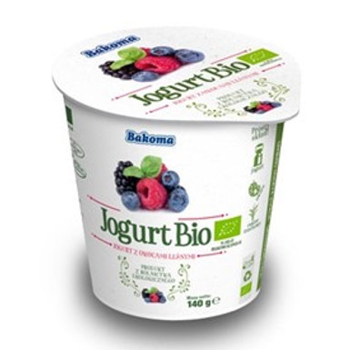 Jogurt Bio BAKOMA owoce leśne 140g