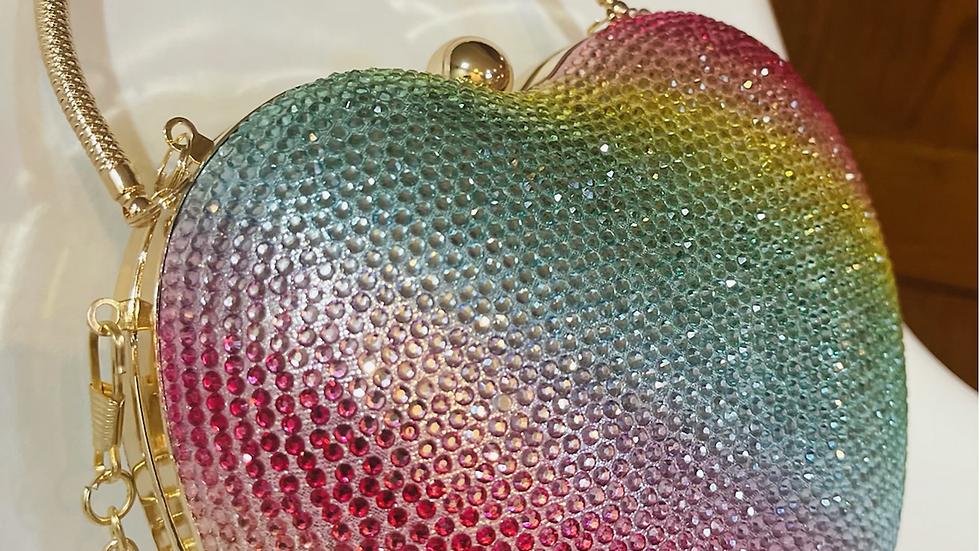 Heart Shaped Evening Clutch Bag