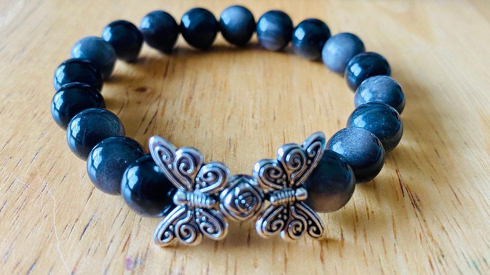 Butterflies & Roses (precious stones)