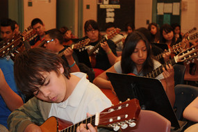 Students at Pistor Middle School in Tucson participate in a 2013 class.