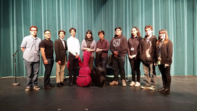Students at Amphitheater High School in Tucson meet the Beijing Duo, 2019.