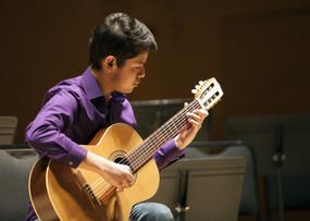 Christian Gomez of Basalt Middle School near Aspen plays a 2015 showcase concert at the Aspen Music Festival's Harris Concert Hall.