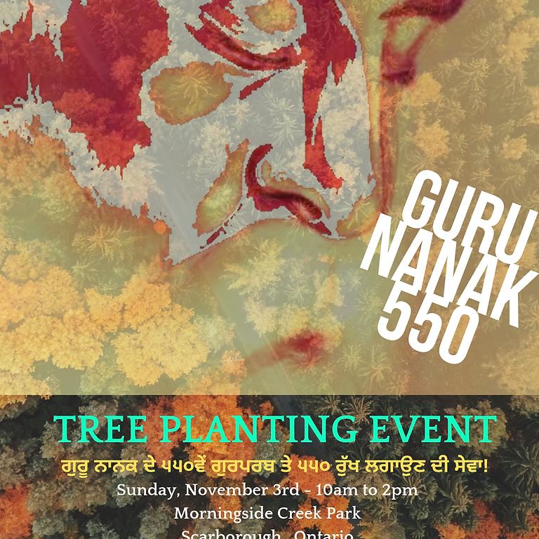 'Guru Nanak 550' Tree Planting Day - Scarborough - 41 Boulderbrook Dr