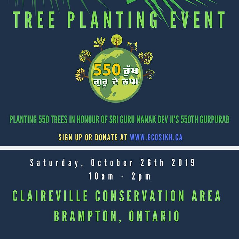'Guru Nanak 550' Tree Planting Event @ Claireville Conservation Area (Brampton)
