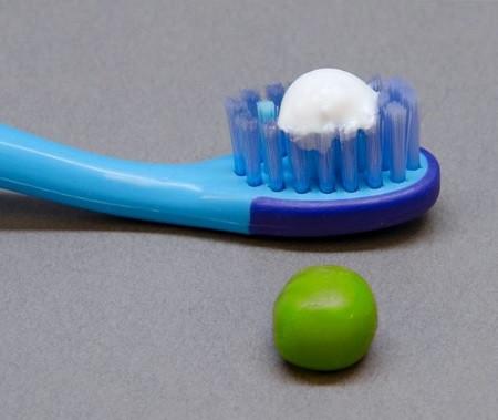 Pea size toothpaste