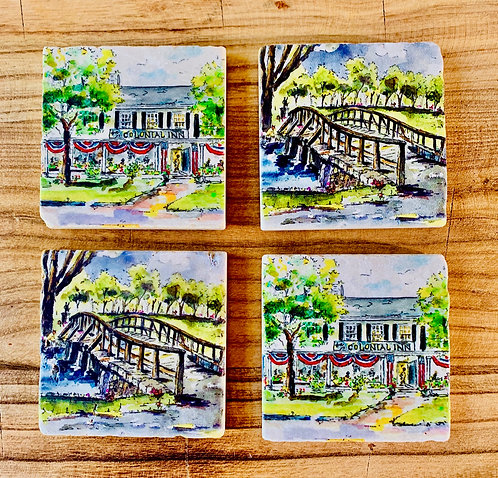 Concord Marble Coasters from Choate Studio