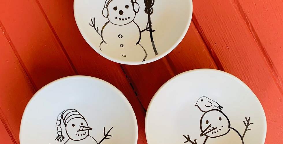 Snowman Bowls (Sold Separately)