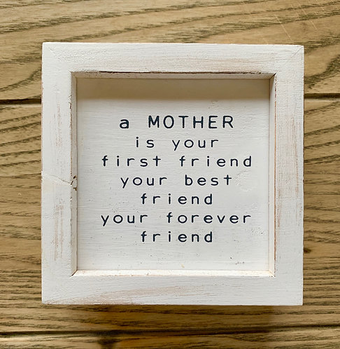 Forever Friend Mom Plaque