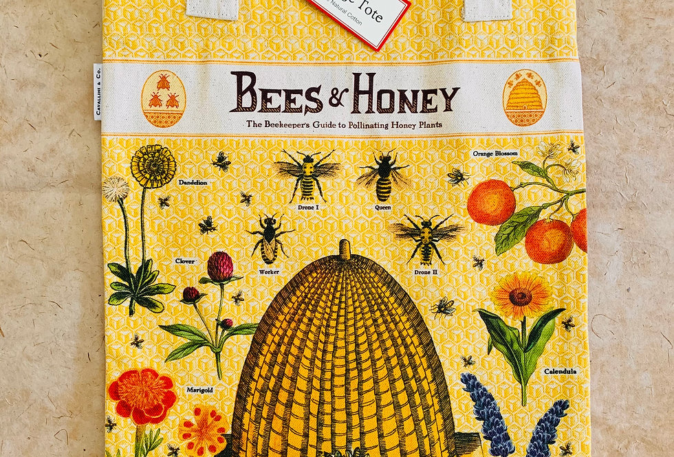 Cavallini Bees & Honey Vintage Tote
