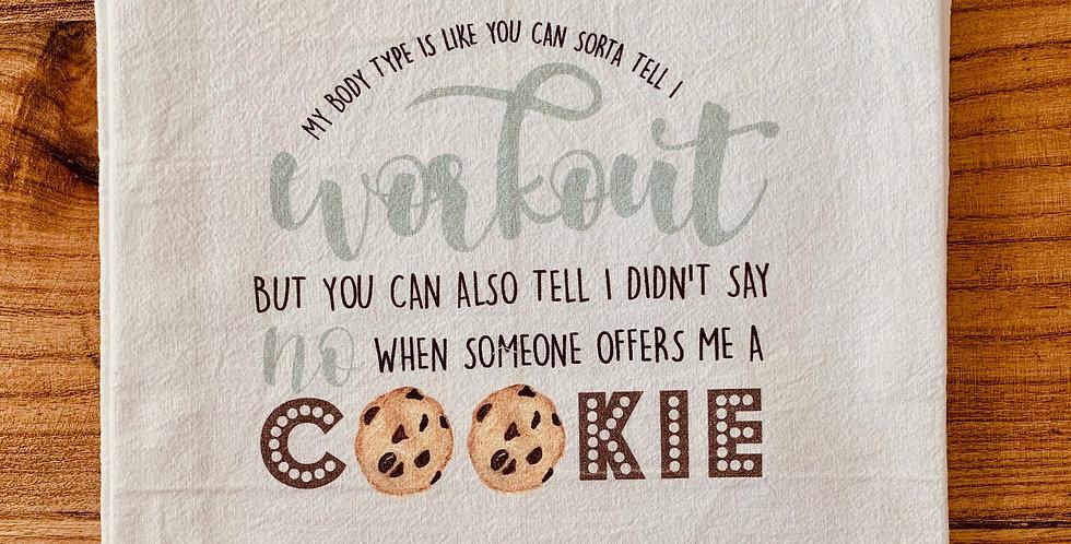 """Cookie"" Tea Towel"
