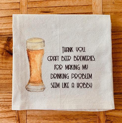 """Thank You Breweries"" Tea Towel"