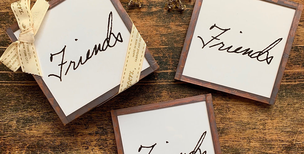 """Friends"" Coasters (Set of 4)"