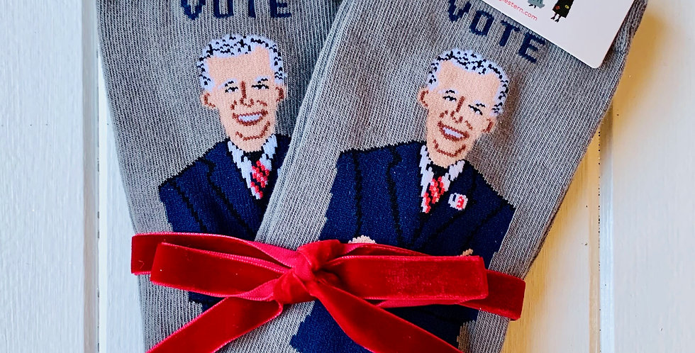 Joe Biden Socks by Maggie Stern