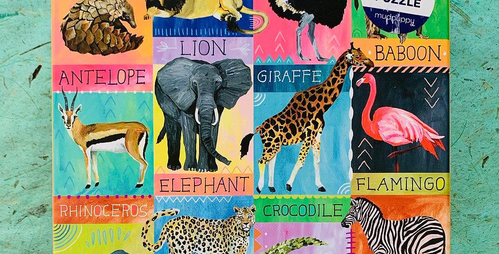 Painted Safari 500 Piece Puzzle