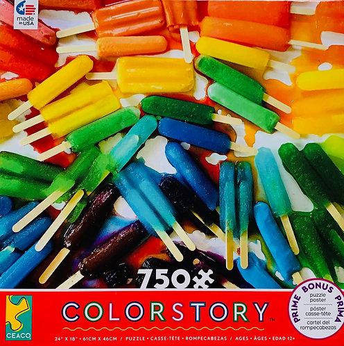 Rainbow Popsicle Puzzle