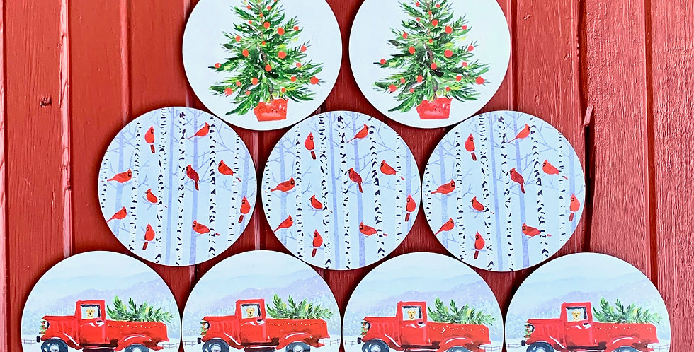 Christmas Coasters (Sets of Four)
