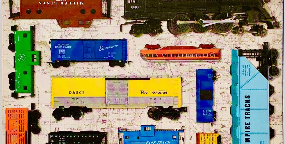 Vintage Toy Train Puzzle