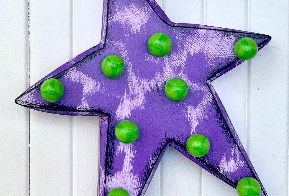 Purple Chunky Star
