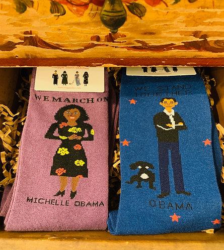 Michele Obama/Barack Obama Socks (Sold Separately)