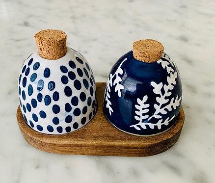 Blue Salt & Pepper Set
